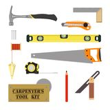 Carpenter`s Tool Kit Stock Photos
