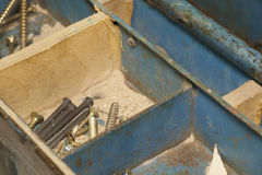 Carpenter's toolbox stock photography