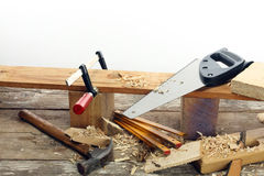 Carpenter's tools Royalty Free Stock Photo