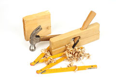 Carpenter's tools Royalty Free Stock Image