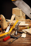 Carpenter's tools Royalty Free Stock Photography