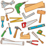 Carpenter's Tools Collection Royalty Free Stock Image