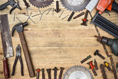 Carpenter's tools Royalty Free Stock Images
