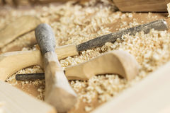 Carpenter's workplace Royalty Free Stock Image