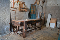 Carpenter's workshop Royalty Free Stock Photos