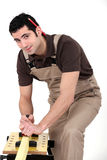 Carpenter sanding Stock Photos