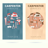 Carpenter service vector business card concept design. Royalty Free Stock Photography