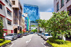 Carpenter Street in Boat Quay in Singapore Royalty Free Stock Photo