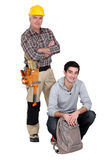 Carpenter and a student Royalty Free Stock Photos