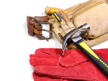 Carpenter tool-belt Royalty Free Stock Photography