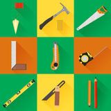 Carpenter Tool flat icons Royalty Free Stock Photos