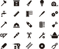 Carpenter tool icon set Royalty Free Stock Photo