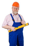 Carpenter with tools Royalty Free Stock Photo