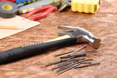 Carpenter tools Royalty Free Stock Image