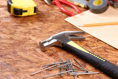 Carpenter tools Stock Photos