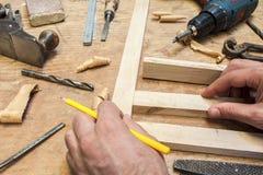 Carpenter tools Stock Images