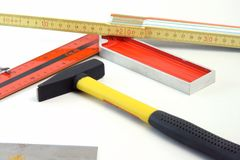 Carpenter Tools Royalty Free Stock Photo