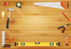 Carpenter Tools flat background Royalty Free Stock Image