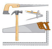 Carpenter Tools Logo Stock Image