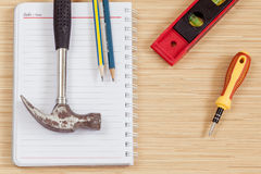 The carpenter tools. Royalty Free Stock Image