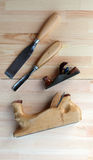 Carpenter Tools Planes and Chisels Royalty Free Stock Images
