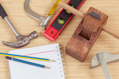 The carpenter tools Royalty Free Stock Photos