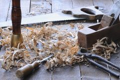 Carpenter tools. Royalty Free Stock Photo