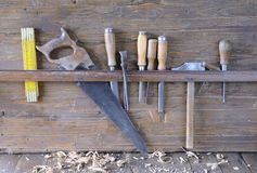 Carpenter tools. Royalty Free Stock Image