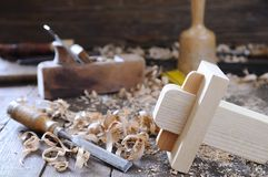 Carpenter tools. Royalty Free Stock Photography