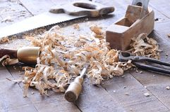 Carpenter tools. Stock Image