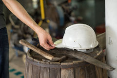 Carpenter tools at working space Stock Photos