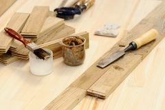 Carpenter tools for working with wood Royalty Free Stock Photography