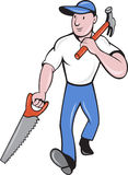 Carpenter tradesman worker Stock Images