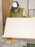 Carpenter Using Table Saw Stock Photos