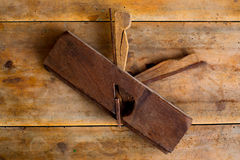 Carpenter vintage wood planer tool planer rusted Royalty Free Stock Photo
