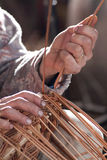 Carpenter weaves rattan Stock Photo