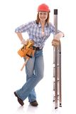 Carpenter woman Royalty Free Stock Photos