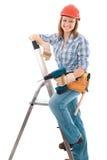 Carpenter woman royalty free stock photo
