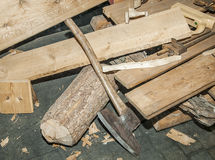 Carpenter wood tool Royalty Free Stock Photography