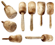 Carpenter wooden hammer collection Royalty Free Stock Images