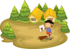 Carpenter in the woods Royalty Free Stock Images