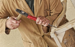 Carpenter at work Stock Photos