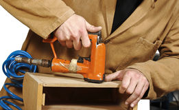 Carpenter at work Stock Image