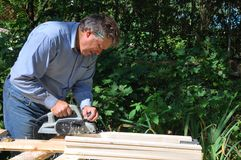 Carpenter at work Royalty Free Stock Photos