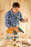 Carpenter in work Stock Photo