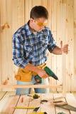 Carpenter in work Stock Photo