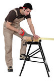 A carpenter at work Royalty Free Stock Photography