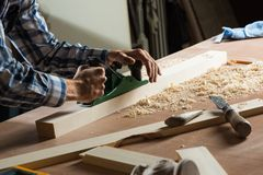 Carpenter at work Royalty Free Stock Images