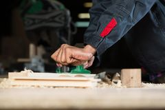 Carpenter at work Stock Photography