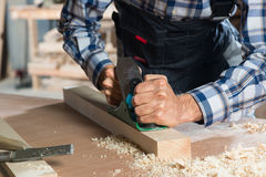 Carpenter at work Royalty Free Stock Photo
